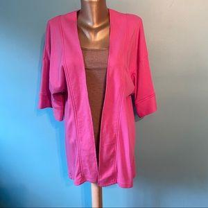 🛍3/$25 Pink open t-shirt cardigan sweatshirt